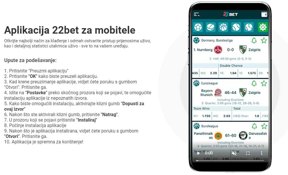 22bet aplikacija